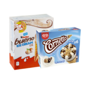 Langnese Family Eis, Cornetto oder Kinder Ice Cream Multipack
