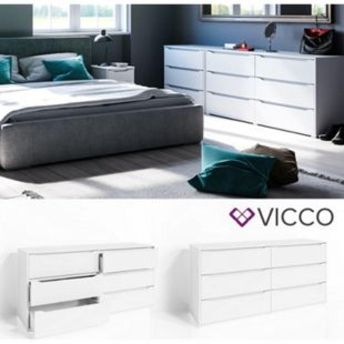 Bild 2 von VICCO Kommode RUBEN Weiß 6 Schubladen 160 cm Sideboard Mehrzweckschrank Schrank