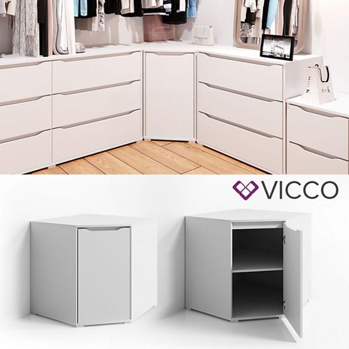 Bild 1 von VICCO Eck Kommode RUBEN Weiß Sideboard Mehrzweckschrank Schrank Kleiderschrank