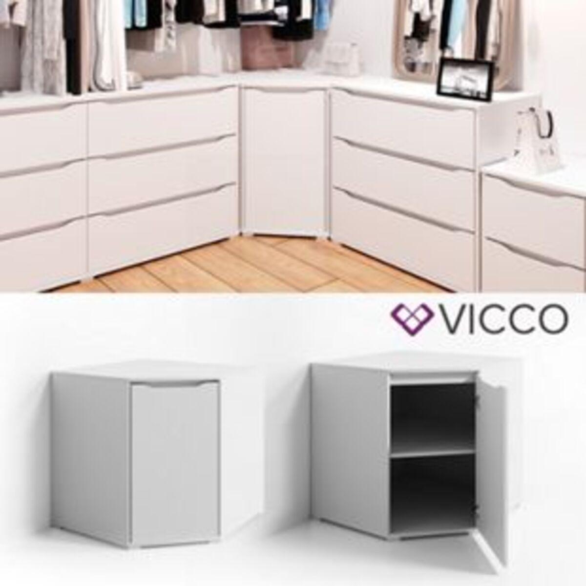 Bild 2 von VICCO Eck Kommode RUBEN Weiß Sideboard Mehrzweckschrank Schrank Kleiderschrank