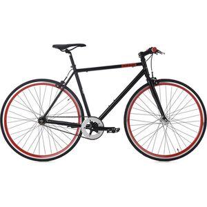 KS Cycling 28 Fahrrad Fixie Singlespeed Flip Flop schwarz-rot