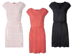 ESMARA® Kleid Damen, ressourcenschonend, mit natürlicher Atmungsaktivität, mit Baumwolle