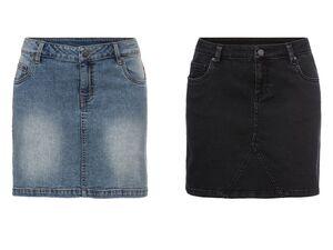 ESMARA® Jeansrock Damen, im 5-Pocket-Style, aus Baumwolle und Elasthan