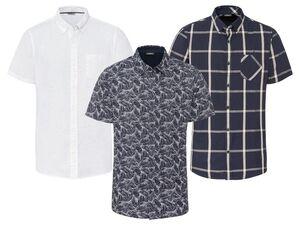 LIVERGY® Hemd Herren, Modern Fit, mit kurzem Arm, mit Baumwolle