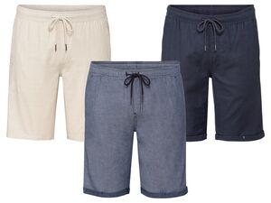 LIVERGY® Shorts Herren, mit Gummizugbund, Eingrifftaschen, aus reiner Baumwolle