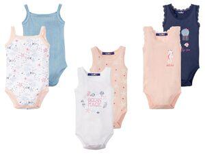 LUPILU® Baby Bodies, 2 Stück, mit Knöpfung im Schritt, aus reiner Baumwolle