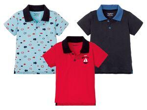 LUPILU® Baby Poloshirt Jungen, mit Seitenschlitzen, verlängerte Rückseite, reine Baumwolle