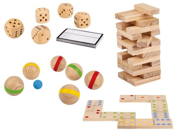 PLAYTIVE® Holzspielzeug Kinder, Outdoor, mit Transporttasche, ab 3 und 6 Jahren