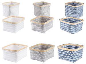 AQUAPUR® Badaufbewahrung, mit Einfassung aus Bambus, aus Kunststoffgeflecht