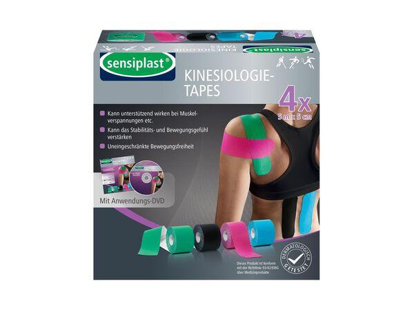 SENSIPLAST® Kinesiologie-Tapes, 4 Rollen, wasserabweisend, atmungsaktiv, mit Baumwolle