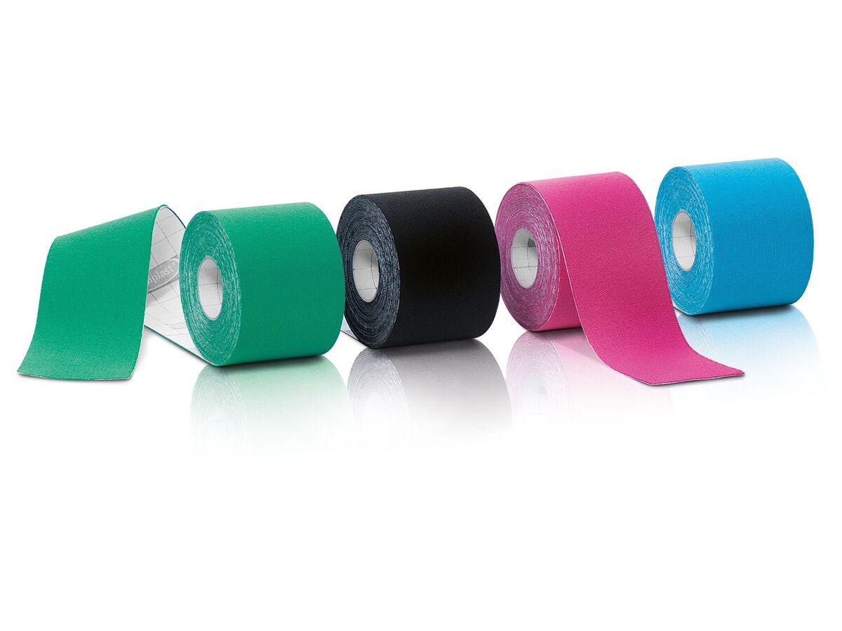 Bild 2 von SENSIPLAST® Kinesiologie-Tapes, 4 Rollen, wasserabweisend, atmungsaktiv, mit Baumwolle