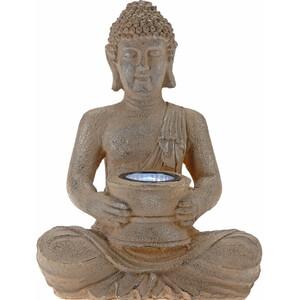 Solarlampe Buddha 22x15x31cm rostoptik