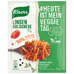 Knorr Fix Linsen Bolognese