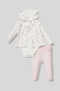 C&A Baby-Outfit-Bio-Baumwolle-3 teilig, Weiß, Größe: 74