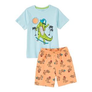 Jungen-Shorty mit Krokodil-Frontaufdruck, 2-teilig