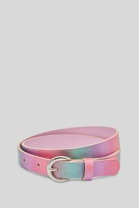 C&A Gürtel-Lederimitat-Glanz-Effekt, Pink, Größe: 152-176