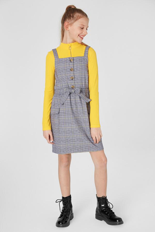 C&A Kleid-kariert, Grau, Größe: 164 von C&A für 9,00 ...
