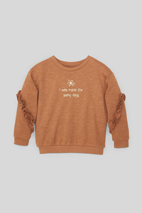 C&A Sweatshirt-Glanz-Effekt, Braun, Größe: 140