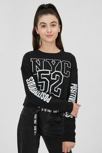 C&A Sweatshirt-Glanz-Effekt, Schwarz, Größe: 170/176