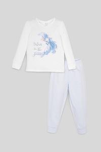 C&A Die Eiskönigin-Pyjama-Bio-Baumwolle-2 teilig, Weiß, Größe: 92