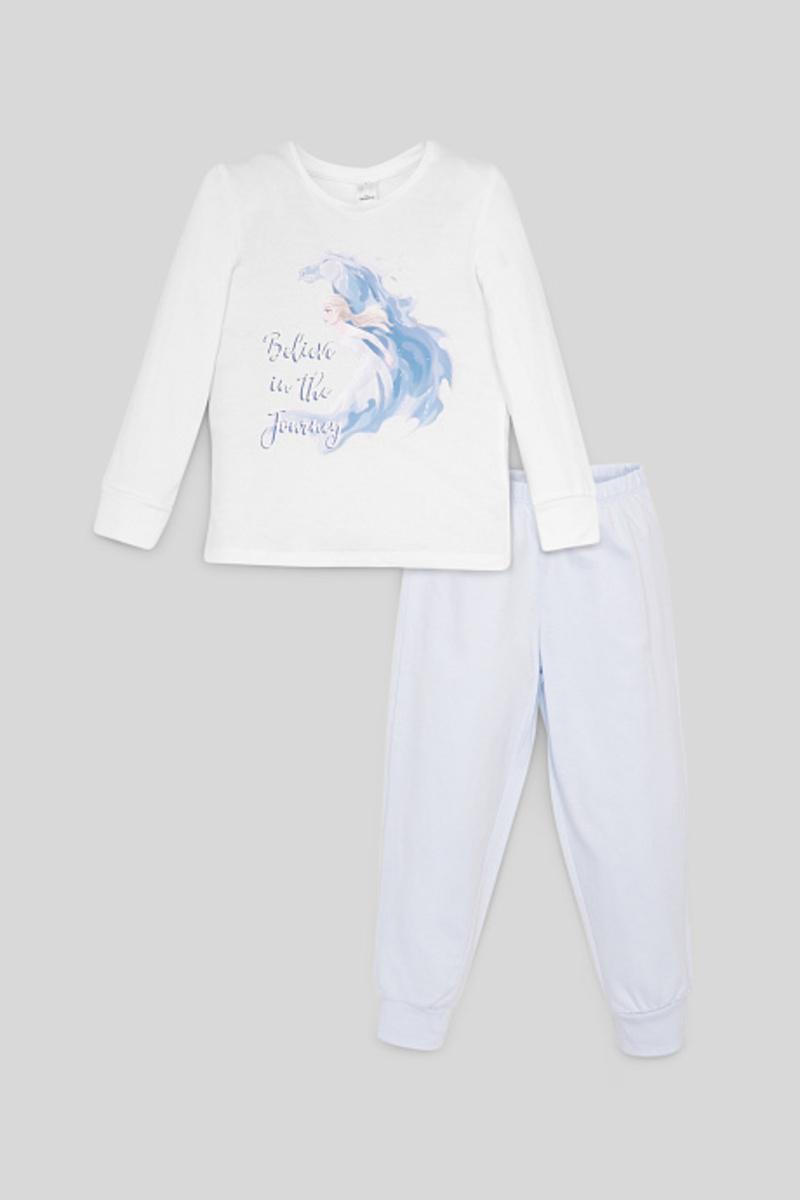 Bild 1 von C&A Die Eiskönigin-Pyjama-Bio-Baumwolle-2 teilig, Weiß, Größe: 92