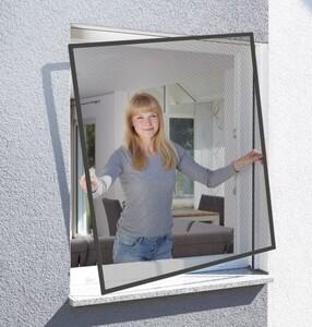 Schellenberg Insektenschutz Fenster ACTION 100 x 120cm, anthrazit