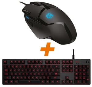 Logitech G402 Hyperion Fury + G413 Red/Carbon Bundle