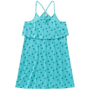 Mädchen Kleid mit Palmen-Print