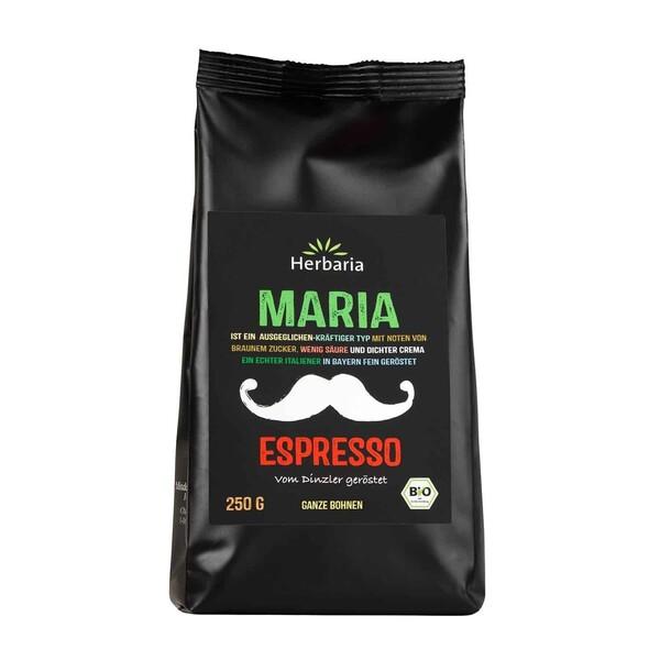 Herbaria Bio Maria Espresso ganze Bohnen 250 g