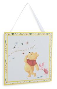 """""""Winnie Puuh"""" Dekoschild mit Blumenbordüre"""