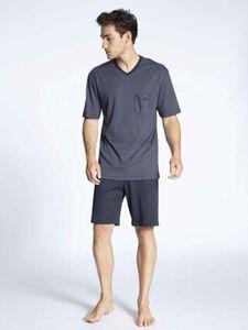 Calida Relax Streamline Schlafanzug, geringelt, Elastikbund, für Herren