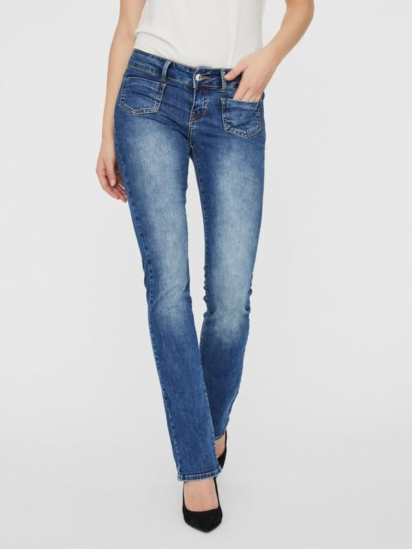 VMDINA LOW WAIST SKINNY FIT FLARED JEANS
