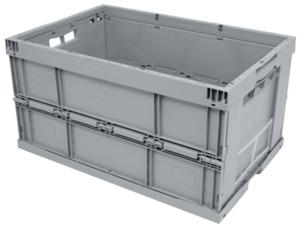 METRO Professional Faltbox Polypropylen (PP) Hellgrau  60 x 40 x 32 cm