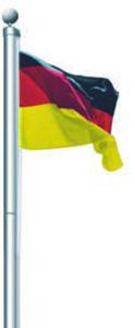 Aluminium-Fahnenmast  inkl.  Deutschland-Fahne