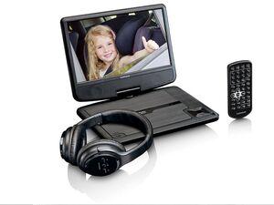 Lenco Portabler DVD-Player 9'' mit Autohalterung und Bluetooth-Kopfhörer