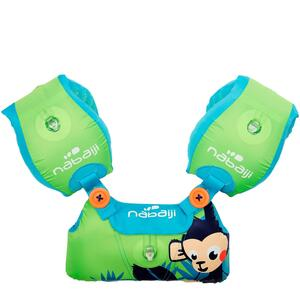 Schwimmflügel und Schwimmgürtel Kombination Tiswim Affe 15–30kg Kinder grün