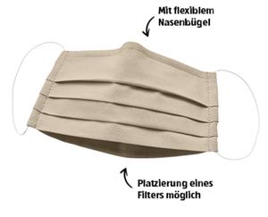 Textile Mund-Nasen-Faltenmasken