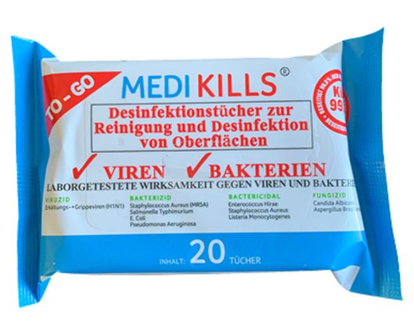 MEDIKILLS®  Desinfektionstücher