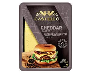 CASTELLO®  Cheddar Burger Scheiben