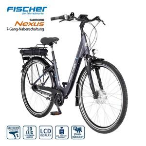 Alu-Elektro-Citybike ECU 1401 28er - Fahrunterstützung bis ca. 25 km/h, 5 Unterstützungsstufen - Li-Ionen-Akku mit hochwertigen Markenzellen 36 V/14,5 Ah, 522 Wh - Reichweite: bis ca. 140 km (je na