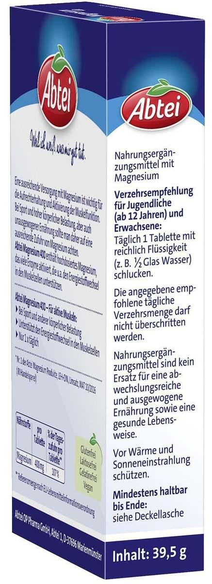 Bild 3 von Abtei Magnesium 400 Tabletten