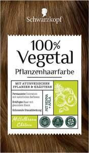 Schwarzkopf 100% Vegetal Pflanzenhaarfarbe Mittelbraun