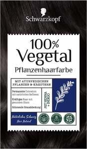 Schwarzkopf 100% Vegetal Pflanzenhaarfarbe Natürliches Schwarz
