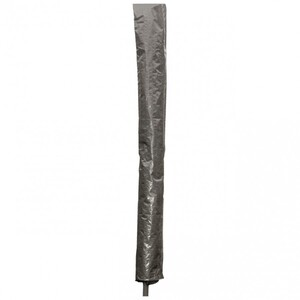 Sonnenschirm Schutzhülle Ø4m grau PE Abdeckung ohne Reißverschluss Gartenschirm