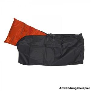 Schutzhülle Sitzkissen 125x32x50cm schwarz Polyester Stoff Hochlehner Auflagen