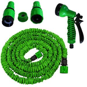 Grafner Gartenschlauch flexibel Klickanschluss in Grün 5 m