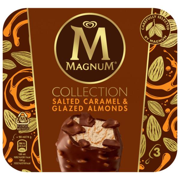 Magnum Collection Salted Caramel & Glazed Almonds 3x90ml
