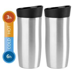 Emsa City Mug 0,36l Thermobecher 2 Stück silber