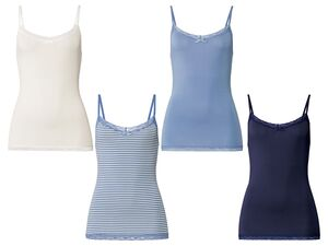 ESMARA® Lingerie Spaghettiträgerhemd Damen, mit Spitze und Zierschleife, mit Elasthan