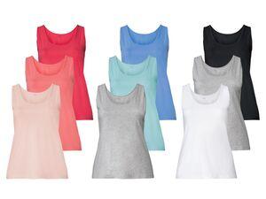 ESMARA® Lingerie Achselhemden Damen, 3 Stück, mit Baumwolle und Elasthan
